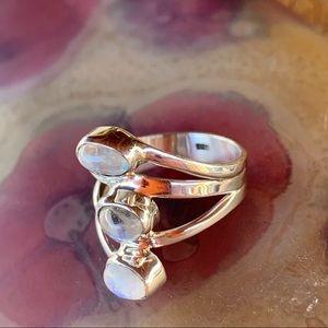 fire monkey Jewelry - ✨TRIPLE WRAP MOONSTONE STERLING SILVER RING✨